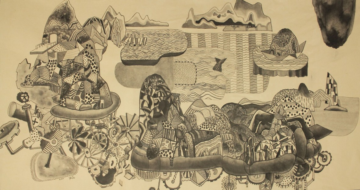 loh-yi-pei-the-moving-islands-ink-on-paper-64x117cm-2015