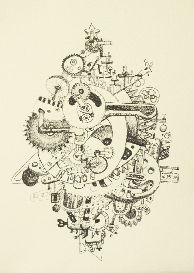 11.-The-Order-of-Time--it's-Christmas-Again,-pencil-on-paper,-29