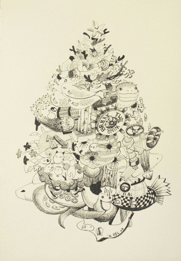 13.-Christmas-Time--the-Undersea-Theme,-pencil-on-paper,-29