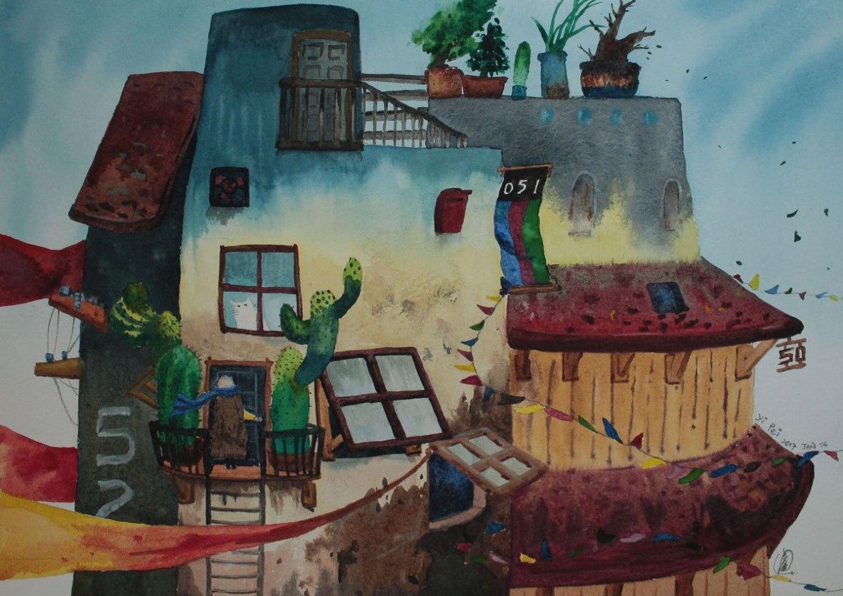 16.-Please-Open-the-Door,-watercolour-on-paper,-24.5x35