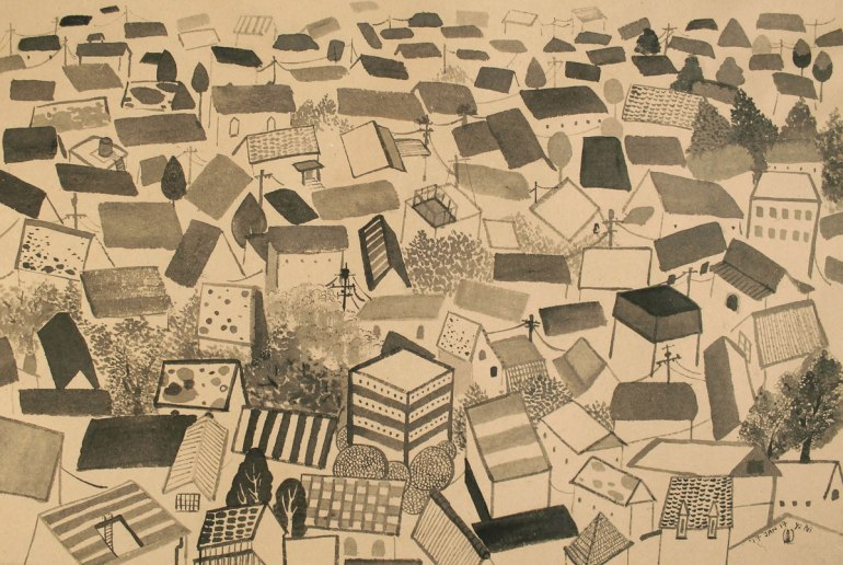 19.-The-Roofs,-ink-on-paper,-27x42