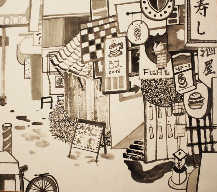 21.-Street-View,-ink-on-paper,-24.2x27