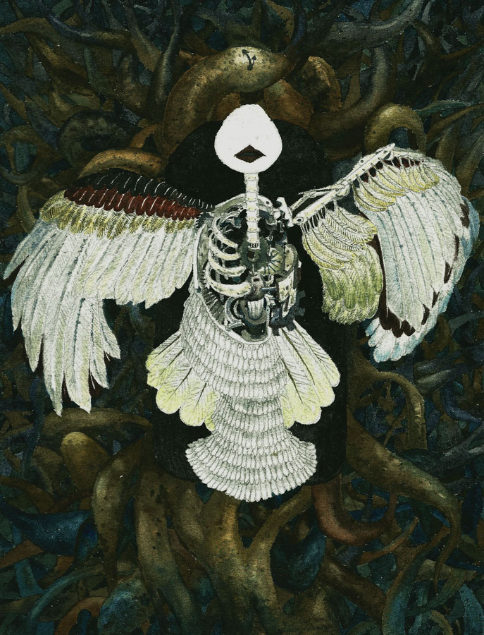 LOH-Yi-Pei,-Cuckoo-Clock,-watercolour-on-paper,-25