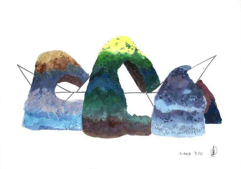 LOH-Yi-Pei,-I'm-Waiting-in-the-Center-of-the-Islands,-watercolour-on-paper,-20