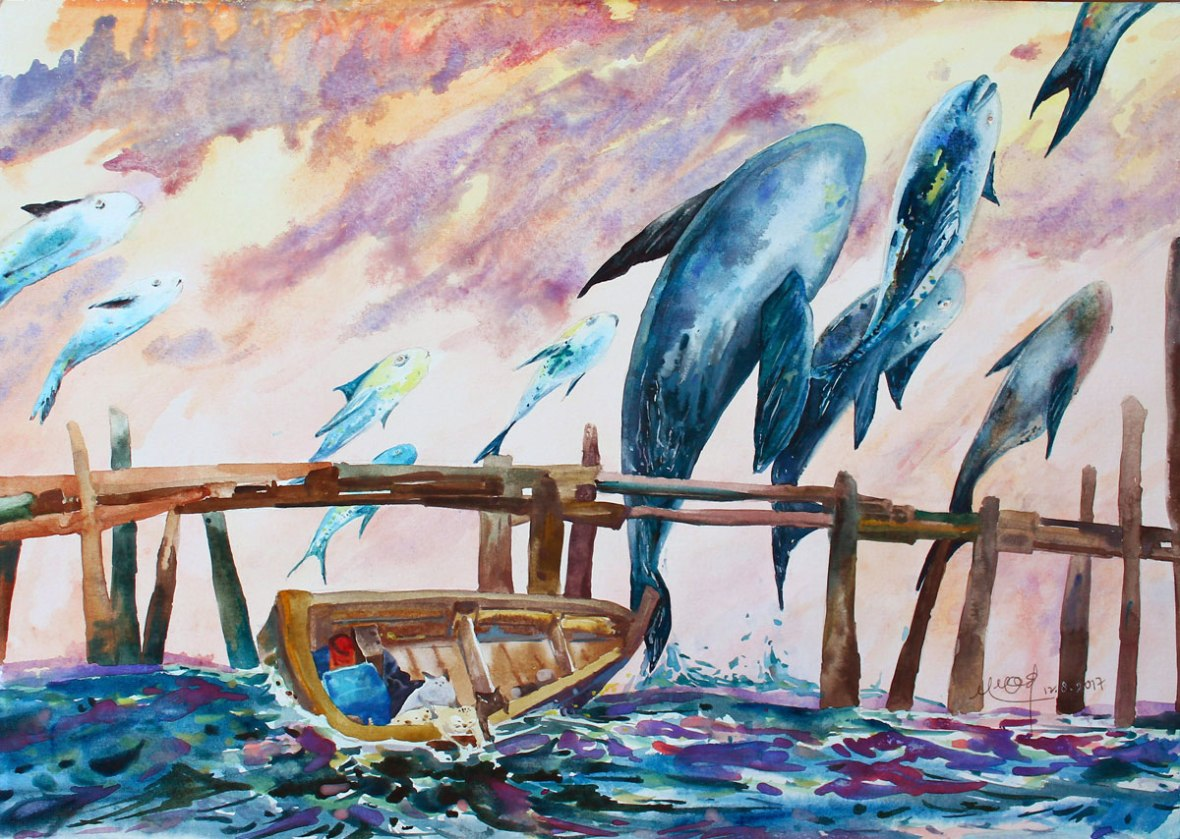 LOH-Yi-Pei,-Looking-for-the-Fish,-watercolour-on-paper,-29