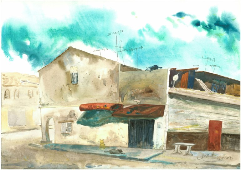 LOH-Yi-Pei,-There's-no-one-around,-watercolour-on-paper,-29